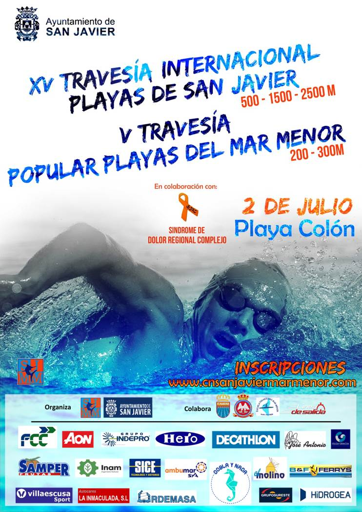 Cartel Travesía Playas de San Javier 2017